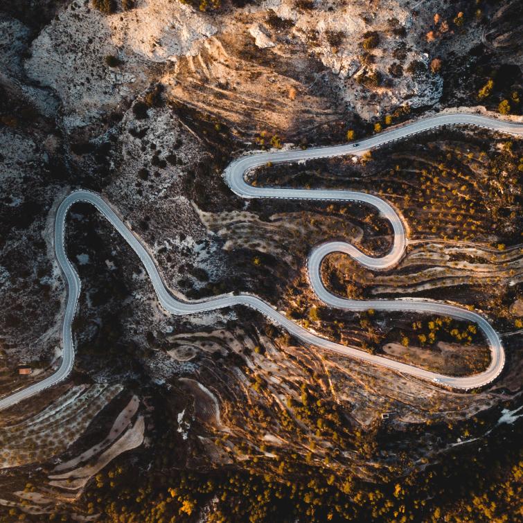 Vista aérea carretera